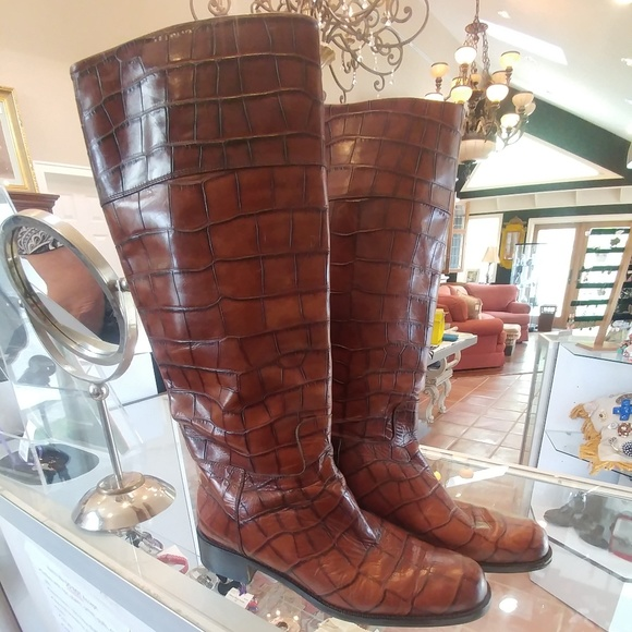 Shoes - Italian Handmade Rust-Colored Boots